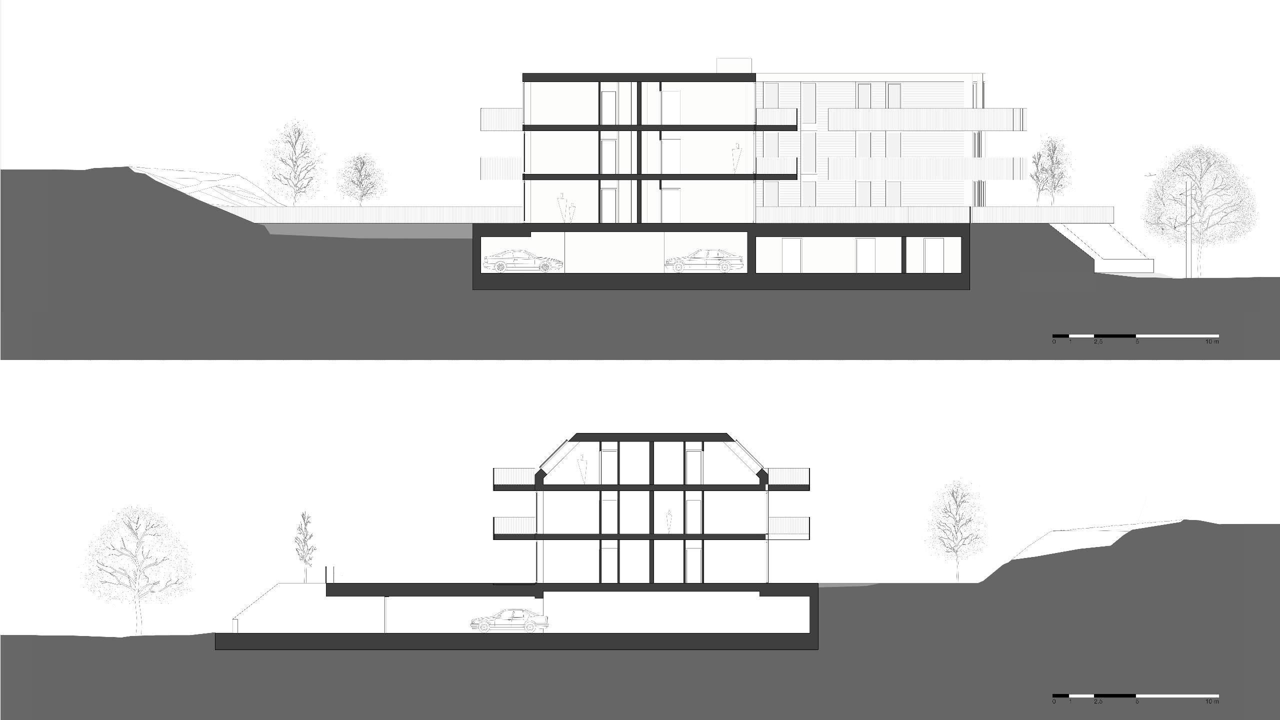 LIEGLER TAKEH ARCHITEKTEN Projekt Gersthoferstraße Plan Schnitt