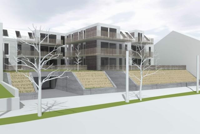 LIEGLER TAKEH ARCHITEKTEN Projekt Gersthoferstraße Visualisierung Straßenraum