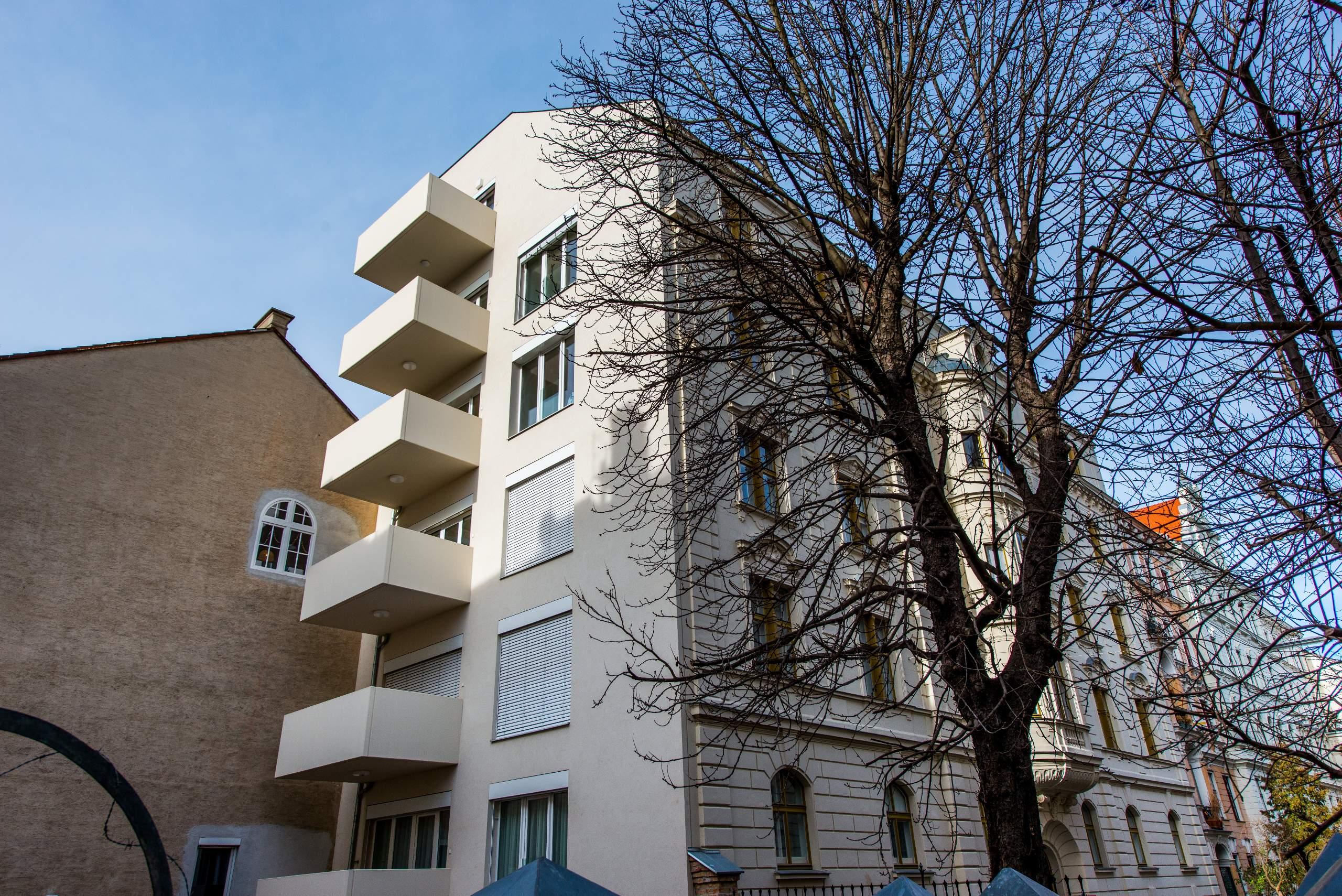 LIEGLER TAKEH ARCHITEKTEN Projekt Zeinlhofergasse Fassade und Balkone